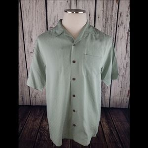 Tommy Bahama 100% Silk Camp Button Front Shirt S/P